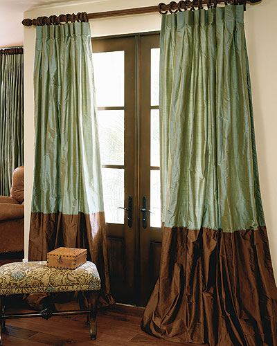 Signature Collection Bordered Silk Drapes